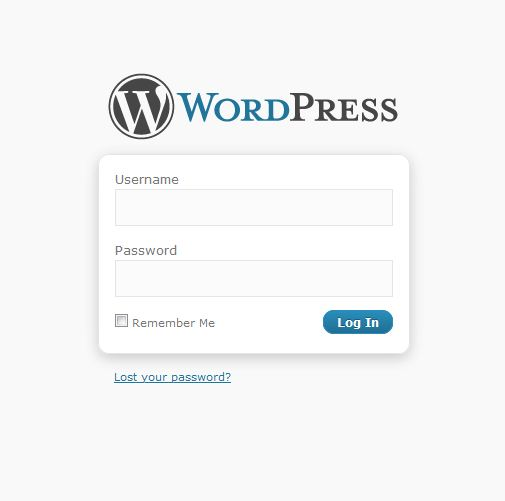 Step 1 - WordPress Dashboard Login Screen